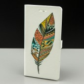 Husa FlipCover Stand Magnet Design Feather HTC 10