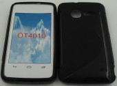 Toc silicon S-Case 4012 Alcatel One Touch Fire Negru