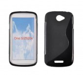 Toc silicon S-Case HTC One S Negru